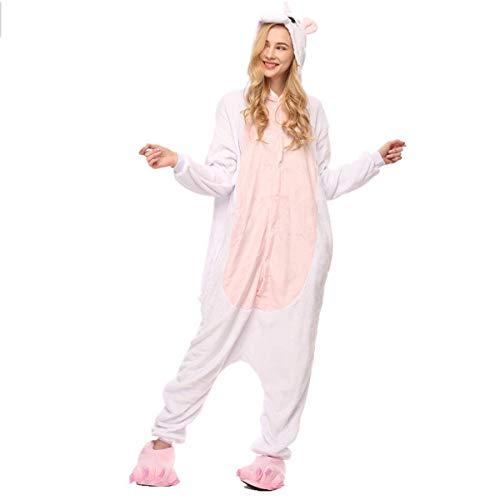Fancyland Stitch Kostüm,Jumpsuit Tier Cartoon Fasching Halloween Kostüm-Anzug Onesie Fleece-Overall (Pink Unicorn Hoodie Erwachsene Kostüme)