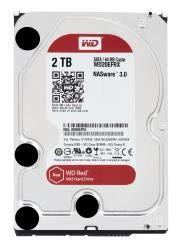 Western Digital WD20EFRX - WD 2TB RED 64MB 3.5 INCH Desktop SATA 6Gb/SEC INTERNAL HDD for 1-5 Bay NAS - Tb 2 Red Hdd Wd