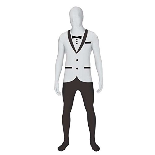 Seconde Peau Kostüm - Zweite Haut morphsuit TM tuxedo, Größe l, weiß