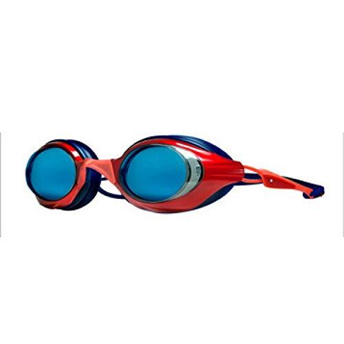 Ywqwdae Flache Lichtbrillen/Umweltschutz Silikon High-Definition-wasserdichte Anti-Fog-Schwimmbrille (2 A-Gruppe), Rot (Farbe : Rot)