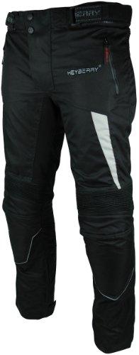 HEYBERRY Motorradhose Textil Schwarz Grau Gr. M