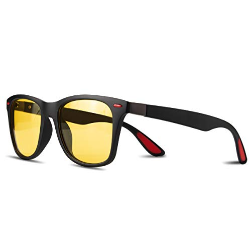 CHEREEKI Polarisierte Mode Sonnenbrille mit UV400 Schutz Unisex Klassische Brille für Herren Damen (Gelb)
