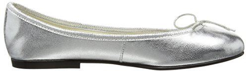 French Sole Damen India Leather Ballerinas Silberfarben