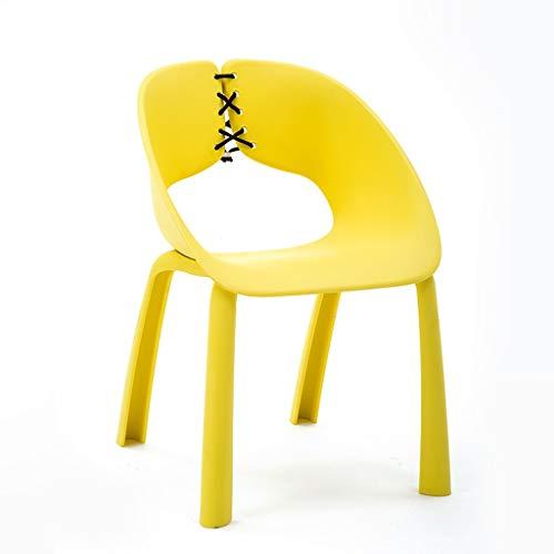 WANG LIQING Nail Shop Hocker Pulley Rundhocker Kosmetikhocker Friseurstuhl Friseursalon Drehbar Liftable 43-56cm (Color : Yellow)