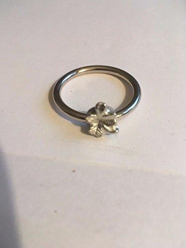 4Leaf Clover 1x 1cm 805117tg307a Emblem aus feinem englischen Zinn auf ein Schal Ring geschrieben von uns Geschenke für alle 2016von Derbyshire UK... -