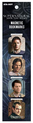 Ata-Boy Supernatural Cast Lesezeichen, magnetisch, 2,5 cm, 4 Stück (Poster College-wohnheim)