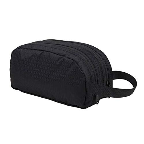 Séparation sèche et humide Sac cosmétique Stockage étanche Grande capacité Extérieure Multi-fonction Portable Simple Travel Wash Universal 2 Couleur 22 * ​​9 * 11 cm MUMUJIN ( Couleur : NOIR )