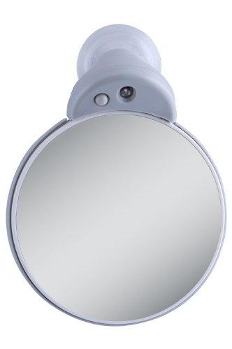 Zadro Petit double-miroir grossissant 5x/10x avec lumière LED