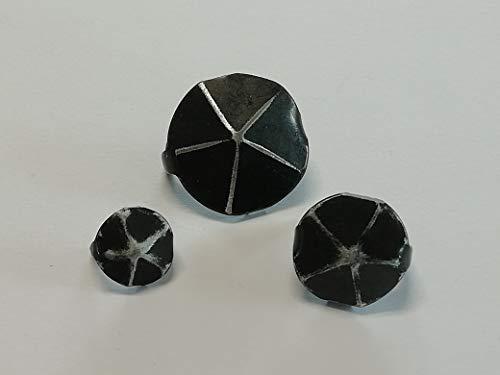 50 Ziernägel//Polsternägel hellgrau Lederimitat  glatt 13mm