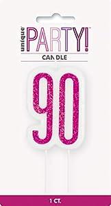 Unique Party- Vela, Color pink & silver (83899)