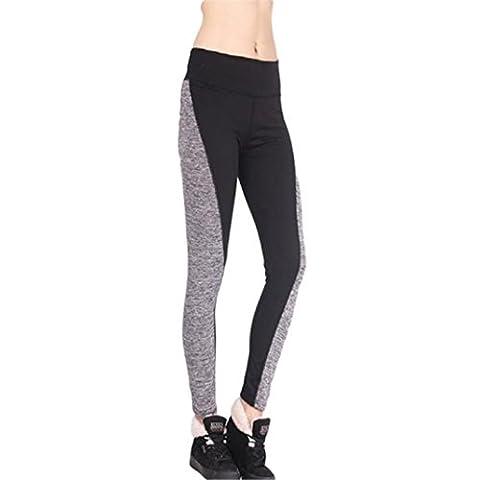 Toamen Pantalon de Sports, Femmes Mode Faire des exercices leggings Fitness/Sports/Fonctionnement/Yoga Pantalons athlétiques (XXL, Noir)
