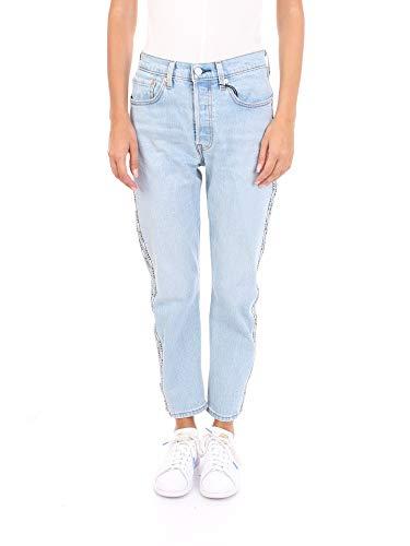 Levis 501 Crop Jeans Straight Donna