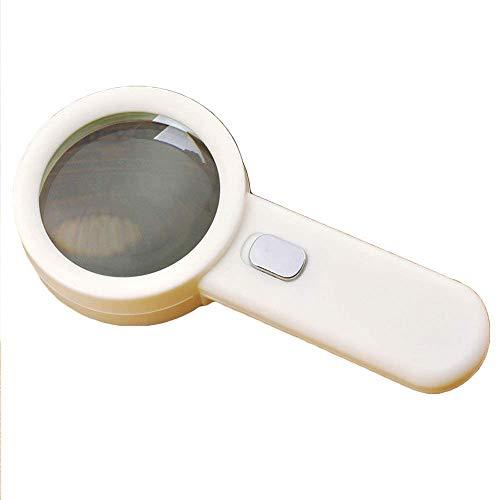 efanr 10x Lupe mit 10LED Licht Lesen Lupe Handgerät leicht robustem Kunststoff beleuchtet Lupe Objektiv perfekt zum Lesen Basteln Mustertuch Jewelry Hobbys