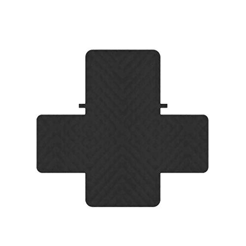 Dolity 1/2/3-posti reversibile protector mobili trapuntato slipcover coprisedile divano sedile cover - nero, 2 posti