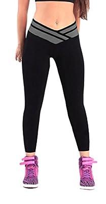 iLoveSIA® Damen Sport Leggings Hosen-Capri YOGA Strumpfhosen