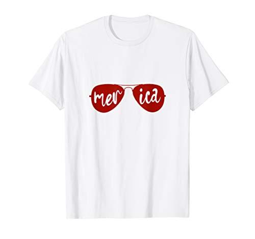 AMERIKANISCHE 4. JULI SHIRTS SONNENBRILLE MERICA T-Shirt (Juli Niedlich, T-shirts Vierter)