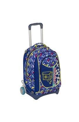 Trolley seven new jack - widget - blu - sganciabile e lavabile - scuola e viaggio