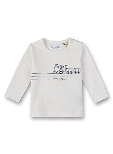 Sanetta Baby-Jungen Langarmshirt Shirt, Beige (Ivory 1829.0), 92