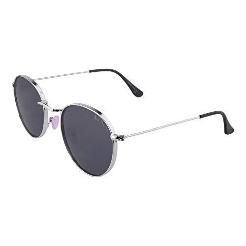 ActiveSol BONA DEA | Sonnenbrille Damen | Pinke Nasenpads- Neo Retro Style | Polarisiert | 100% UV-Schutz | Rund | 17 g (Silver/Black)