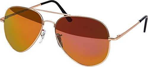 6f6a184819848f Hochwertige Pilotenbrille Sonnenbrille 70er Jahre Herren   Damen Sunglasses  Fliegerbrille verspiegelt (Rosé Gold Matt