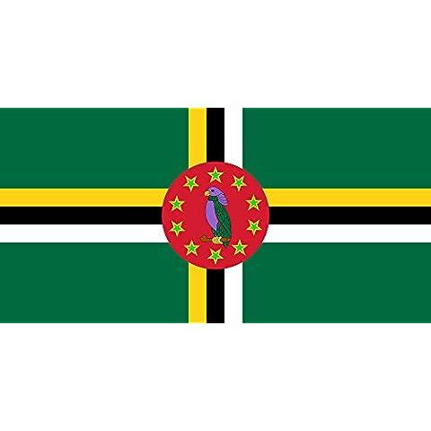 Dominica 1988-1990 | Dominica from 1988 to 1990 Bandera 20x30cm para Diplomat-Flags Banderas de Coche