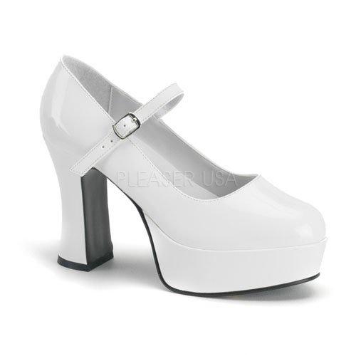Higher-Heels, chaussures de verni pour femme laque blanc