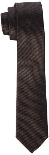 Bande Cou Inégale Des Hommes Cravate, Noir (asphalte), Une Taille (taille Du Fabricant: Os) Calvin Klein