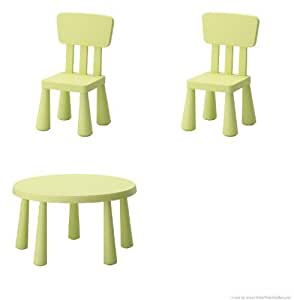 mammut ikea tavolino per bambini colore verde chiaro e. Black Bedroom Furniture Sets. Home Design Ideas