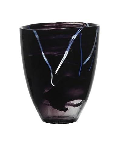 Kosta Boda Kontrast Vase, schwarz, Large (Kosta Boda Geschenke)