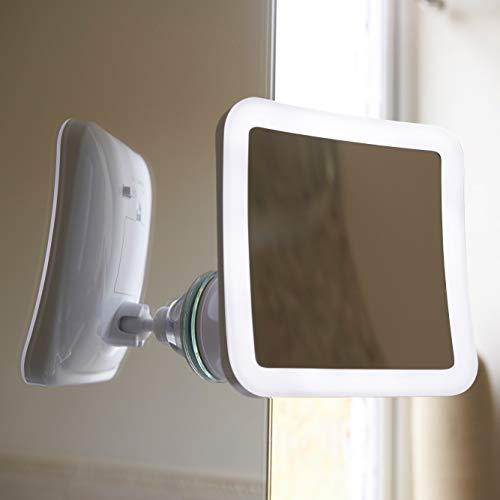 Auraglow Kabelloses Beleuchtetes 10X Vergrößerungs Rasier-Make-up-Schönheit-Badezimmer-Spiegel mit