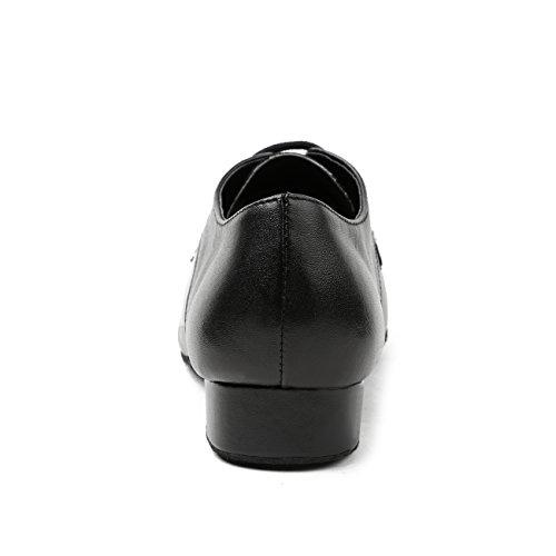 Minitoo ,  Herren Ballsaal Leather/Suede-Black