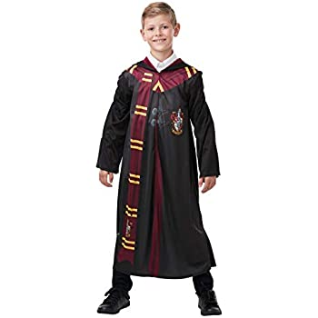 New Boy Wizard Magic Costume Cloak Cape HP Inspired Robe Fancy Dress UK Age 4-12