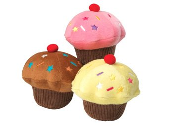 House Of Paws Hundespielzeug, Cupcake aus Plüsch, mit… | 05060145636026