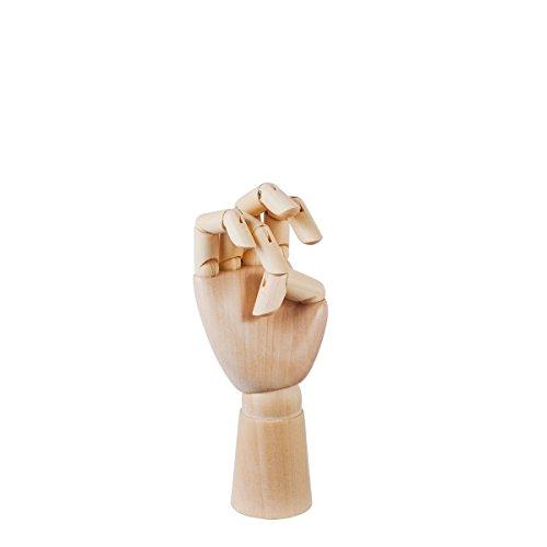 Wooden main, Bois, marron, H 13,5cm