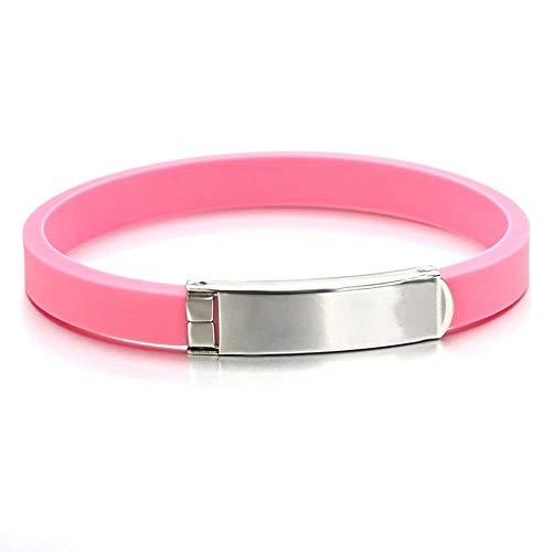 WY-wristband Armband aus künstlichen Ionen, wasserdicht, Silikon, elektrostatisch, Basketball, für Männer und Frauen, 23 x 0,9 cm Modern D