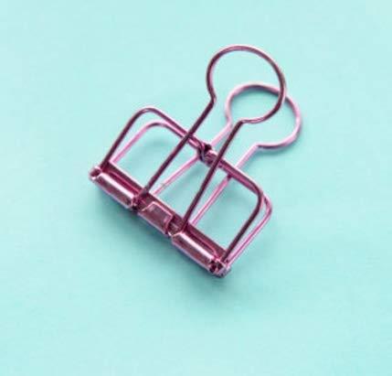 PANGUN Neuheit Massive Farbe Hohl aus Metall Wäscheklammern Binder Clips Notizen Briefpapier Clip Büro Home-S-Lila