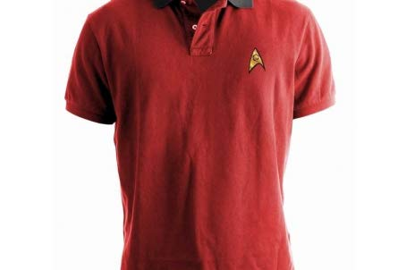 STAR TREK - Polo - Uniform - Red (S) : TShirt , ML - Shirt Red Trek Star