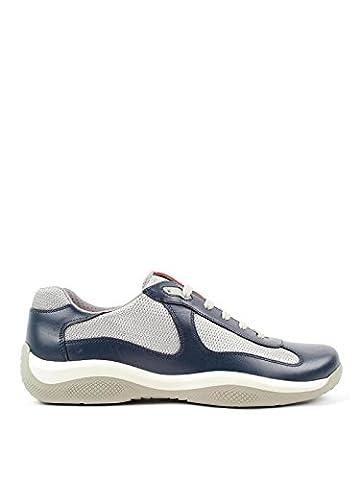 Prada Herren 4E2043o0vf073ao Multicolour Leder Sneakers (Prada Stoff)