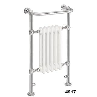 Traditional Heated Towel Rail Radiator Victorian Chrome Column Towel Warmers 952 x 500