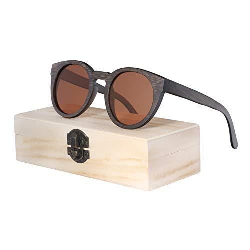 TIANZly Vintage Bambus Holz Sonnenbrille handgemachte Polarisator Mode Brille Holzkiste
