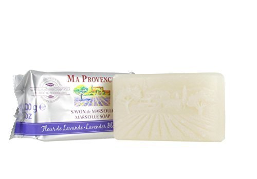 Ma Provence Marseille Bar Soap Lavender Blossom 7 Oz. From France by Ma Provence -