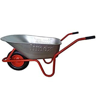 ALTRAD LIMEX Bauschubkarre Gartenschubkarre Rot 100l Liter Mulde verzinkt ***NEU***