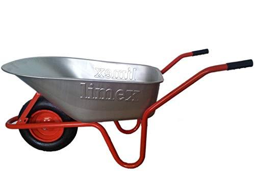 LIMEX Bauschubkarre Gartenschubkarre Rot 100l Liter Mulde verzinkt ***NEU***