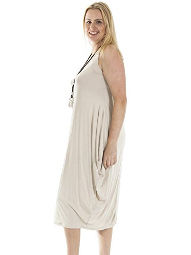 Love My Fashions Damen Kleid Kleid One size Beige