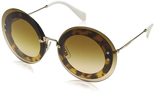 Miu Miu Damen 0MU10RS 7S01G0 64 Sonnenbrille, Braun (Light Havana/Brown),