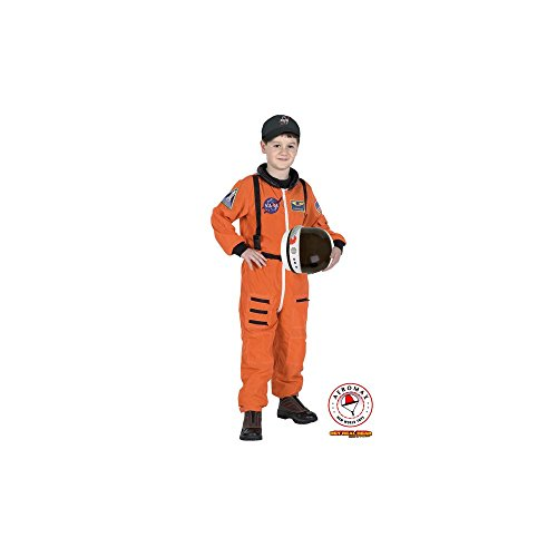 Orange Astronaut Kostüm Kinder (Aeromax Little Boys orange Astronaut Halloween-Kostüm Outfit 18 M14, orange, 8-10)