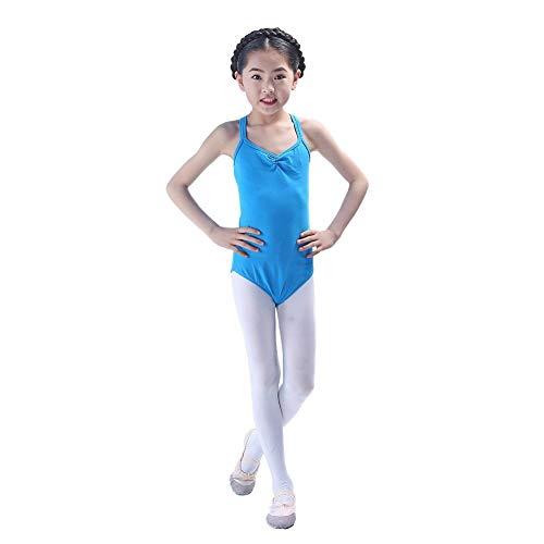 Kindertanzkostüme für Mädchen Wettbewerb, Trikotanzug Ballett/Tanz/Gymnastik Tutu Rock Dancewear Kostüm ärmelloser Body Jumpsuit (Suit Kostüme Body)