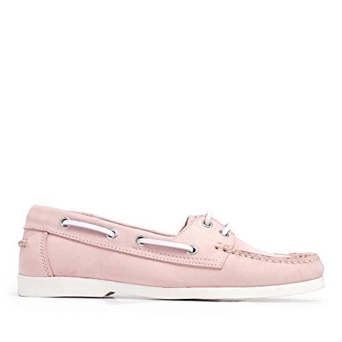 Castellanisimos Zapatos Náuticos Rosa Piel Mujer