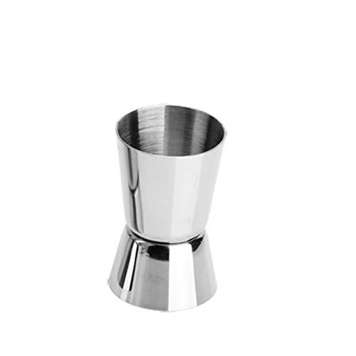 Cocktail Jigger Tasse à mesurer double barre, Esprit, Acier inoxydable, 20 / 30ml 20 / 40ml 25 / 50ml Argent FENGMING (Couleur : Silver, taille : 20/30ml)