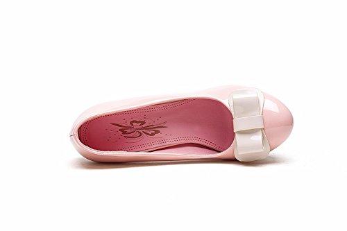 Inconnu 1TO9 pour femme à enfiler Couleurs assorties fiançailles en caoutchouc Pumps-shoes Rose